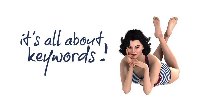 Illustration die richtigen keywords finden